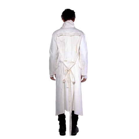 """OUTLAW"" CLOAK TWILL COTTON WHITE - MENS"