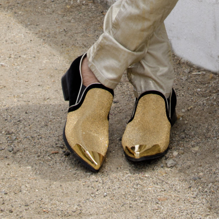 RHINESTONE LOAFER GOLD - MENS