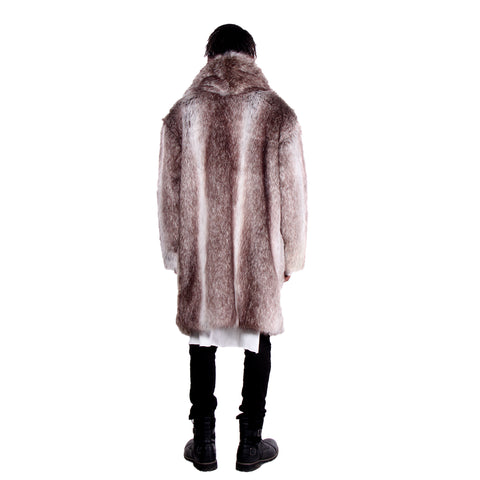 CD FAUX WOLF FUR CAR COAT - UNISEX