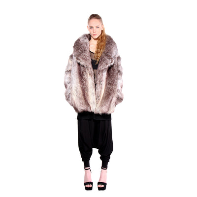 CD FAUX FOX FUR OMBRE COAT STANDARD - UNISEX