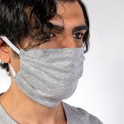 pleated jersey cotton face mask by Cosmo and Donato