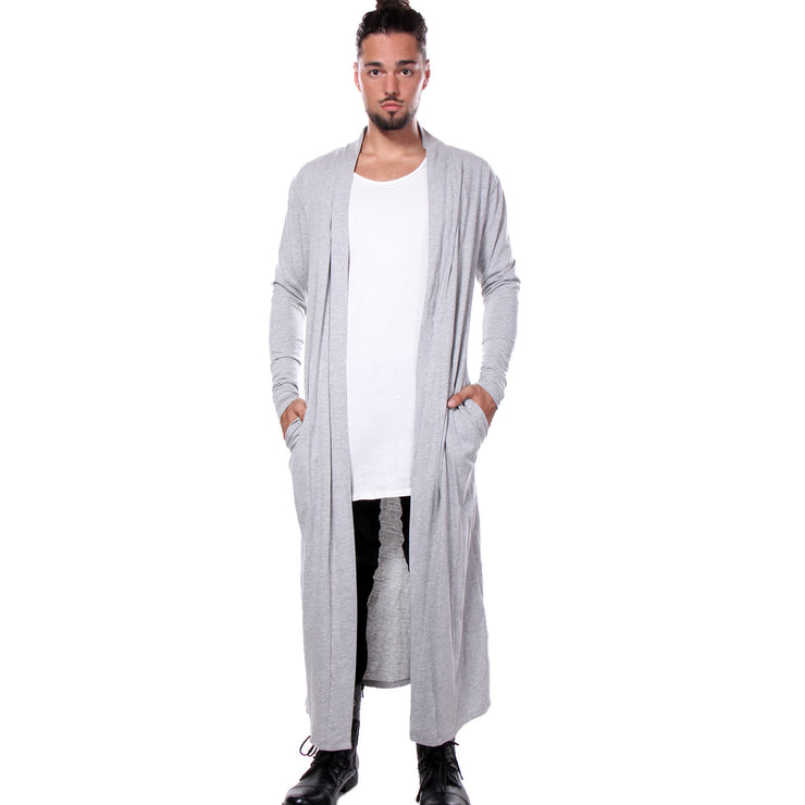 "CD ""MATRIX"" LONG TEE COAT HEATHER GREY - UNISEX"
