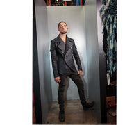 """RODOLFO"" MILITARY JACKET BLACK DAMASK - MENS"