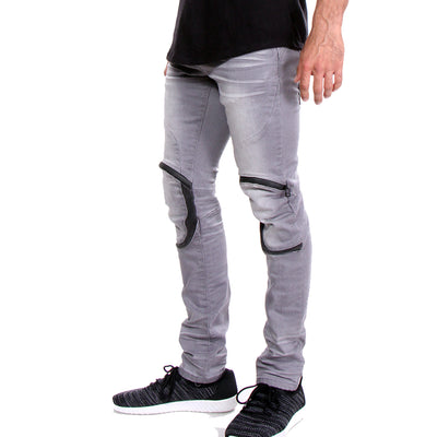 TAPERED STRETCH JEANS - MENS
