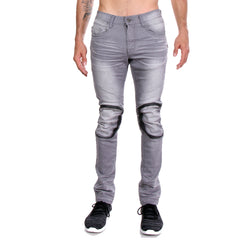 TAPERED MOTO JEANS - MENS