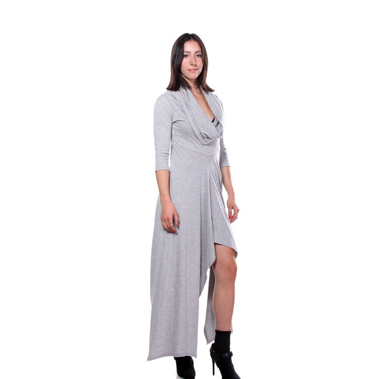 """JERAF"" JERSEY COTTON DRESS GREY - WOMENS"