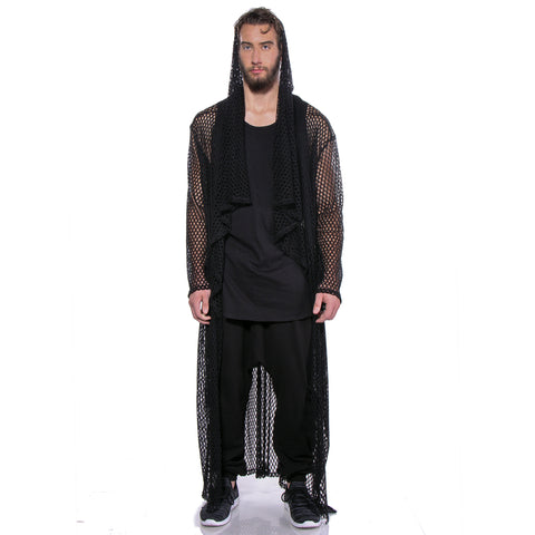 """ARABIAN NIGHTS"" SWEATER COAT MESH - MENS - cosmos-glamsquad"