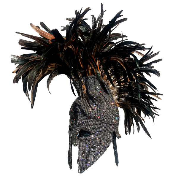 "COUTURE ""ITALO""  HELMET  - ALTERNATING CRYSTALS"