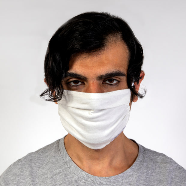 CD PLEATED FACE MASK - JERSEY COTTON