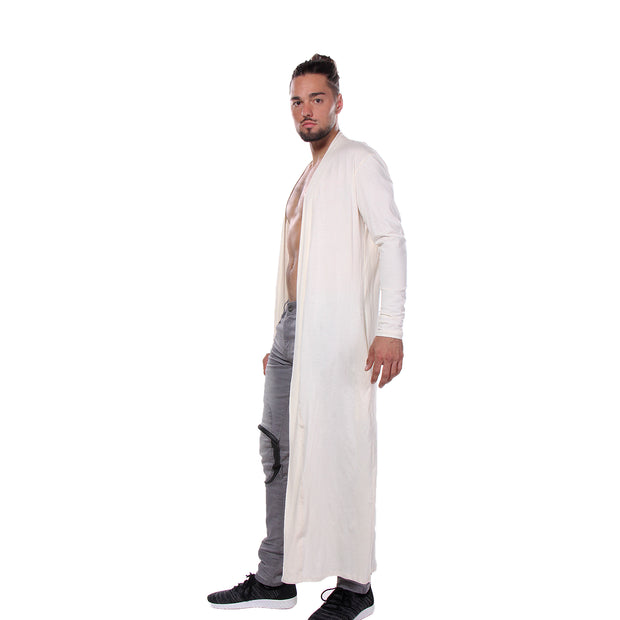 "CD ""MATRIX"" LONG TEE COAT OFF WHITE - UNISEX"