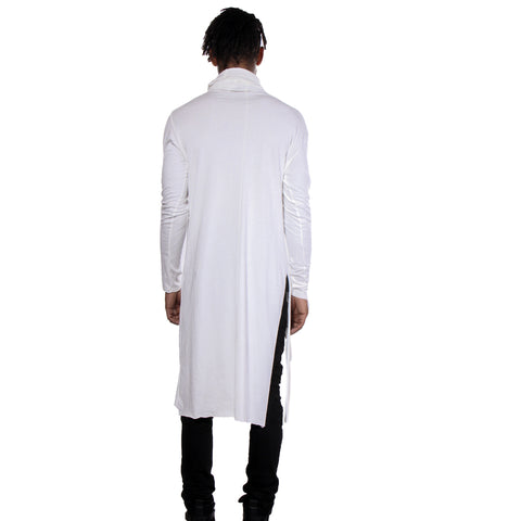 "CD ""GRACE"" INFINITY HOODED LONG T OFF WHITE - UNISEX - cosmos-glamsquad"