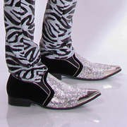 RHINESTONE LOAFER SILVER  - MENS FOOTWEAR