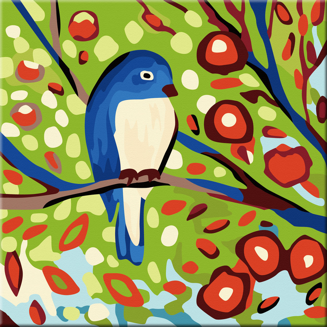 Spring Birds Paint by Number Kit - Bird III