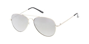 Aviator Sunglasses w/ Silver Mirror Lens