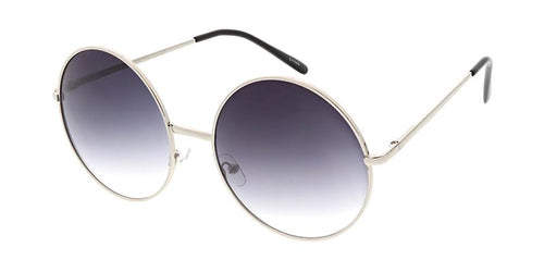 Round Frame Sunglasses w/ Two Tone Lens