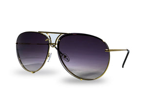 REKOVR Unisex Retro Metal Aviator