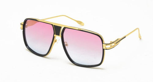 Women's Combo Square Frame Sunglasses w/ Two Tone Lens