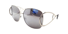 Women's Metal Mirrored Lens Sunglasses