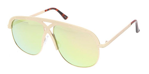 Retro Metal Criss Cross Frame Sunglasses