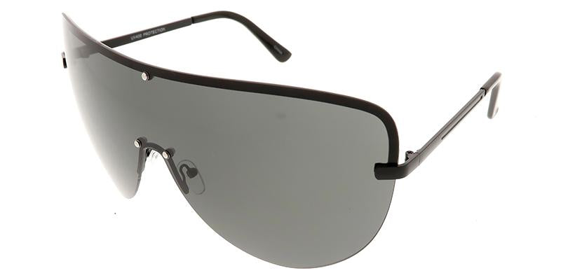 Women's Metal Oversize Shield Sunglasses