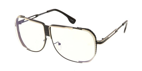 Square Frame Sunglasses w/ Clear Lens