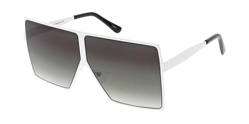 Oversized Square Flat Frame Sunglasses