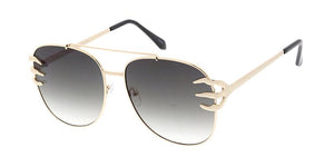 REKOVR Women's Metal Large Aviator Claw Accent
