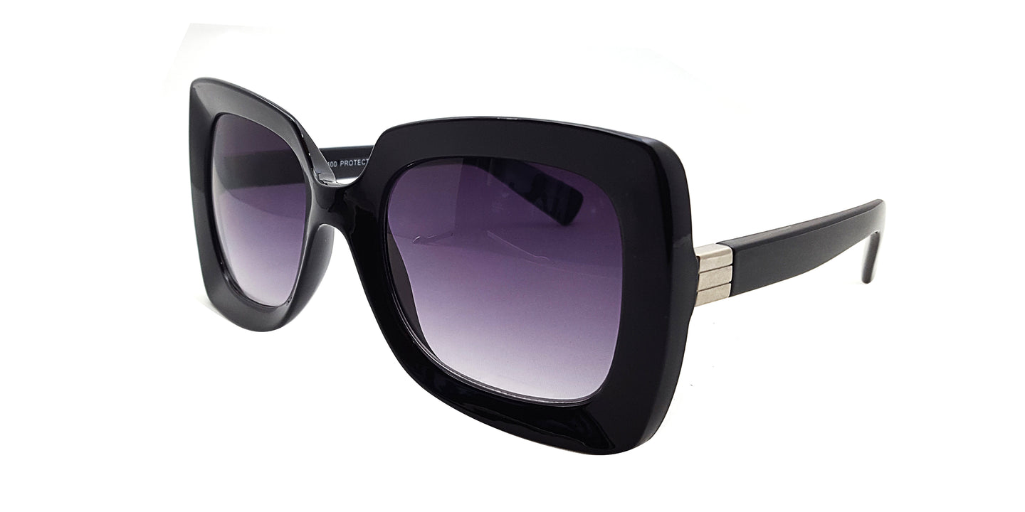 Women's Plastic Large Square Frame Sunglasses
