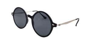 Plastic Medium Round Thin Frame Sunglasses
