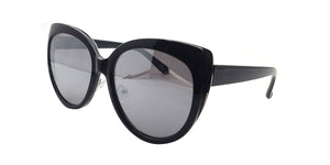 Women's Plastic Large Cat Eye Frame Sunglasses