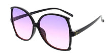 Women's Plastic Extra Large Frame Sunglasses w/ Two-Tone Lens