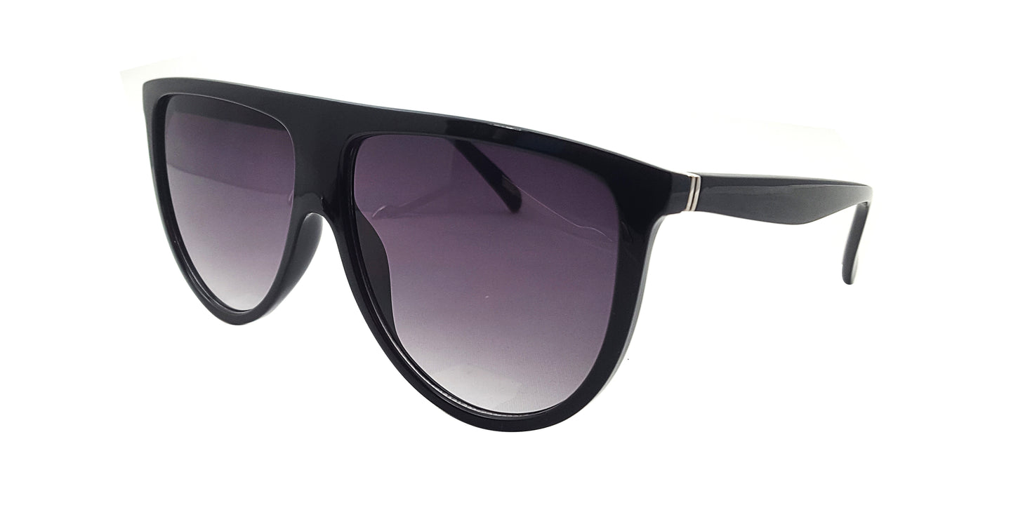 Women's Large Flat Top Frame Sunglasses