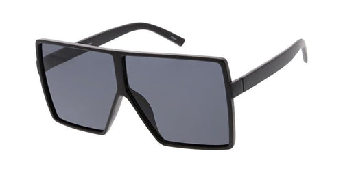 Women's Oversized Plastic Square Frame Sunglasses