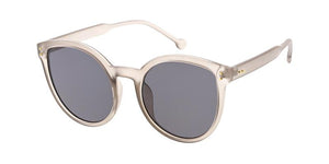 Women's Plastic Large Round Frame Sunglasses