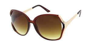 Women's Plastic Oversized Open Frame Sunglasses