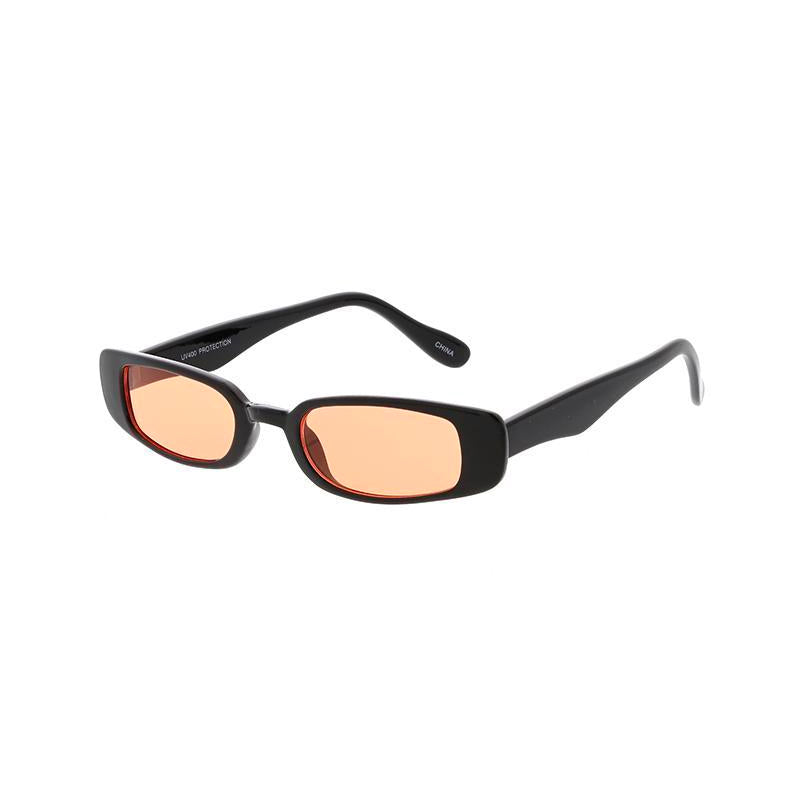 Women's Color Lens Small Square 90s Retro Frame Sunglasses