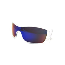 Futuristic Mirror Lens Wrap Around Sunglasses