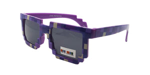Kids' Plastic Pixelated Frame Sunglasses