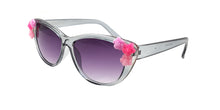 Kids' Plastic Frame with Floral Accents Sunglasses
