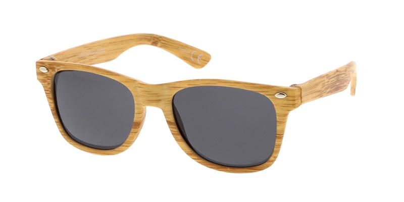 Kids' Plastic Wood Print Sunglasses