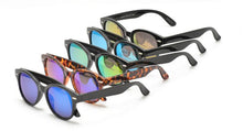 Kids' Plastic Hipster Frame Sunglasses w/ Color Mirror Lens