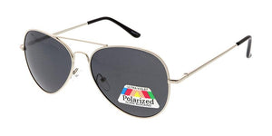 Metal Aviator Sunglasses w/ Polarized Lens