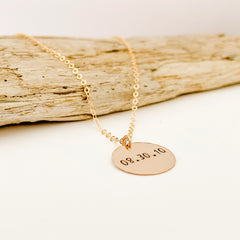 Ebb & Flow Jewelry Large Disc Necklace