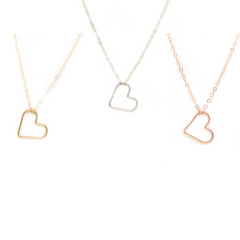 Ebb & Flow Jewelry Floating Heart Necklace