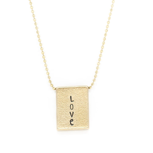 Brass Square Necklace