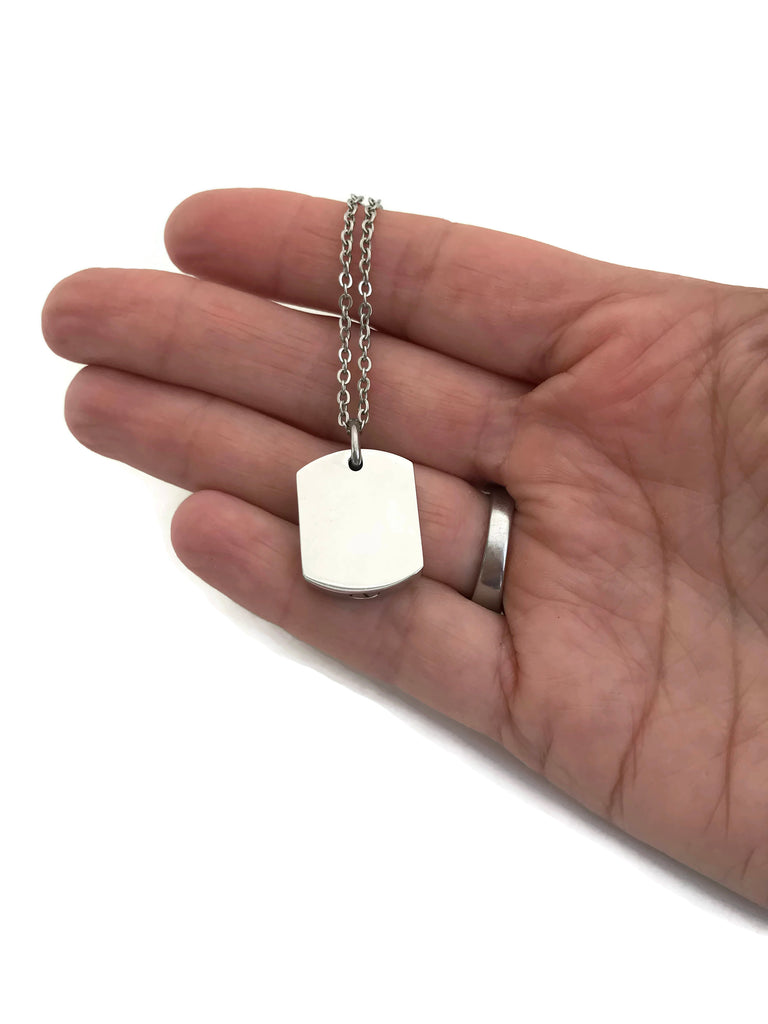 Cremation Jewelry Pendant - Dogtag