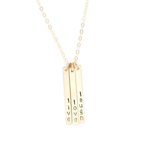 Skinny Multi Bar Necklace - Gold