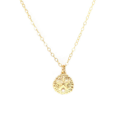 Sand Dollar Necklace - Gold