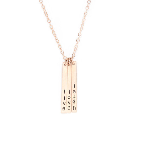 Skinny Multi Bar Necklace - Rose Gold
