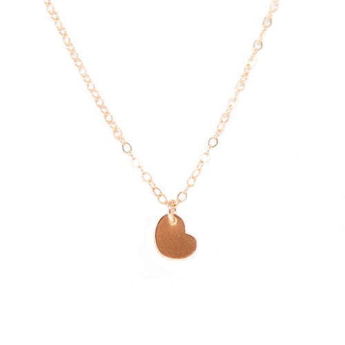 Tiny Heart Necklace - Rose Gold